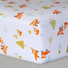 fitted crib sheet woodland trails cloud island white target
