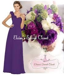 asha cadbury purple corsage chiffon maxi prom evening bridesmaid