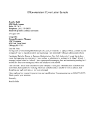 Administration Job Application Cover Letter by Sample Cover Letters For Administrative Jobs Guamreview Com