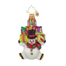 christopher radko ornaments snow stacked gifts little gem