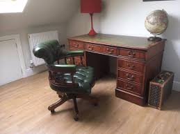 bureau chesterfield leather top desk and chesterfield chair in watford