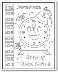 festive new year hat coloring page new year new years eve with