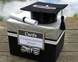 graduation box rhinestone graduation card box with grad cap cut out and large