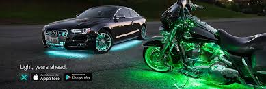 app controlled car lights xkchrome iphone ios android bluetooth app control led lights for