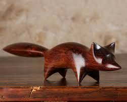 abstract wooden fox carving by perry by perrylancasterwood on etsy