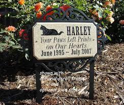 pet memorial personalized pet memorial plaque for cat