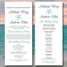 order of ceremony for wedding program kraft wedding program template from paintthedaydesigns