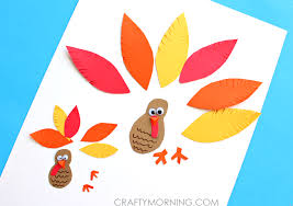 simple paper turkey craft for crafty morning