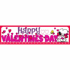 happy valentines day banner peanuts s day classroom banners eureka school