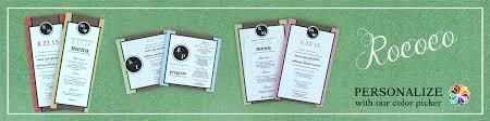 Wedding Program Paper Kits Rococo Wedding Stationery Wedding Stationery Wedding Stationery
