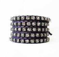 leather rhinestone bracelet images Purple leather rhinestone wrap bracelet onsra designer bracelets jpg
