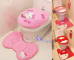 kitty toilet seat cover cushion rug bathroom mat