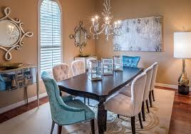 Brown Dining Blue Room Remarkable Dining Room Decor Equipped Nice Long Rectangle Brown