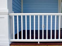 What Is A Banister On Stairs by How To Install A Porch Railing Hgtv