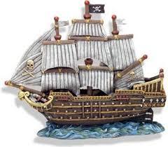 buy resin ornament skull crossbones war ship at harvey