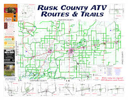 Wisconsin Maps by Trail Maps Rusk County Wisconsin