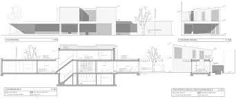 elevation and floor plan of a house gallery of avek u2013 house in a garden park devolderarchitecten 30