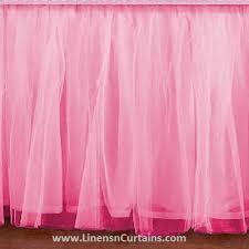 Ruffled Pink Curtains Pink Bed Skirt Linens U0027n U0027curtains