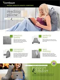 How To Make An Uncomfortable Mattress Comfortable Amazon Com Bedrest Reading And Tv Pillow With Arm Rests Large