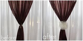 creative curtain tie backs ideas interiors design