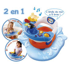siege bain siège de bain interactif 2 en 1 de vtech fauteuils de bain aubert