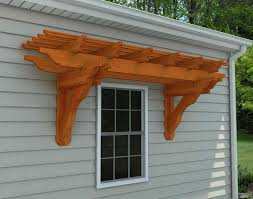 Pergola Kits Cedar by Red Cedar Eyebrow Breeze Wall Mount Pergolas Pergolas By Style
