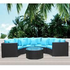 Round Outdoor Sofa Roundano Outdoor Sofa Blue Cushions