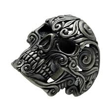 925 sterling silver skull biker ring kraneos com