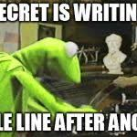 Typewriter Meme - kermit the frog typewriter meme generator imgflip