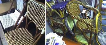 Plastic Bistro Chairs Best Rattan Bistro Chairs 2010 Apartment Therapy