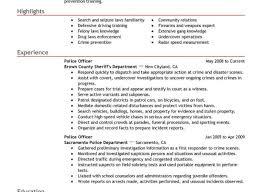 incredible police internship resume tags police resume security