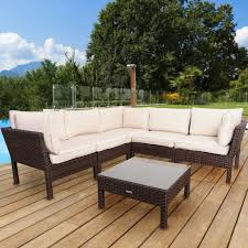 Pvc Patio Furniture Cushions - international home conversation set sectional infinity pvc