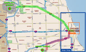 Chicago Transit Authority Map by Chicago O U0027hare Airport To And From Chicago Downtown