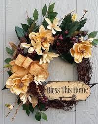 Spring Decor 2017 Magnolia Grapevine Wreath Farmhouse Wreath By Twentycoats Wreath