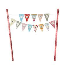 Safety Pennant Flags Vfeng Mini Happy Birthday Cake Bunting Banner Cupcake Topper
