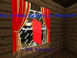 Minecraft Blinds How To Make Curtains In Minecraft Banners Youtube