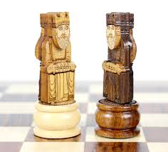 10 u0026 034 isle of lewis wooden magnetic travel chess set golden