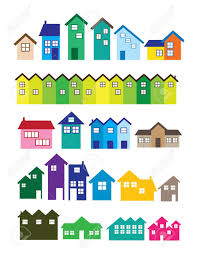 a set of house illustrations real estate royalty free cliparts