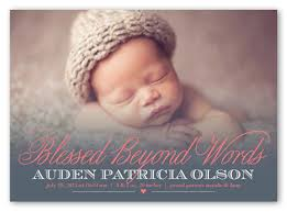 beyond blessed 5x7 girl birth announcement shutterfly