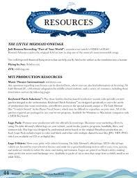 disney u0027s the little mermaid production handbook by music theatre