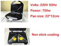 220v Toaster 220v Sandwich Maker Breakfast Maker 750w Toaster Non Stick Coating