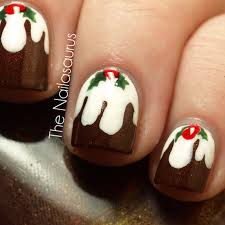 12 days of christmas nails day 9 christmas pudding ferns