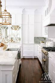 dark to light kitchen before and after elegant white kitchen reveal