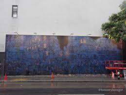 logan hicks multilayered mural underway on bowery graffiti wall logan hicks multilayered mural underway on bowery graffiti wall photos