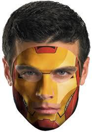 halloween iron man costume iron man 2 face tattoo escapade uk