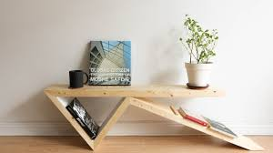 diy bobby pin coffee table two 2x4 challenge youtube
