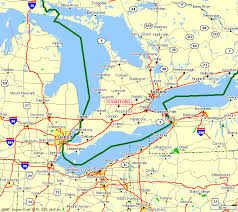 combined map of usa and canada map us border with canada major tourist attractions maps