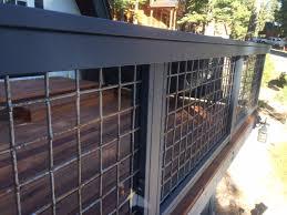 wild hog brand metal deck railing installed on a deck in kachina