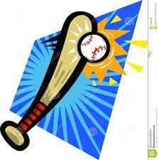 baseball bat hitting ball clipart clipartxtras
