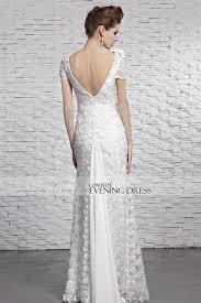 coniefox new design short sleeve lace wedding dress 81593 coniefox